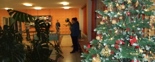 Zpívání koled v hale domova mládeže